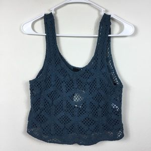 NWT XXI FOREVER 21 LACE CROPPED TANK TOP